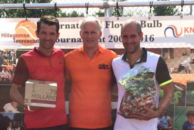 Benny mit Finalgegner Marc Leimbach, Weltmeister Herren 35
