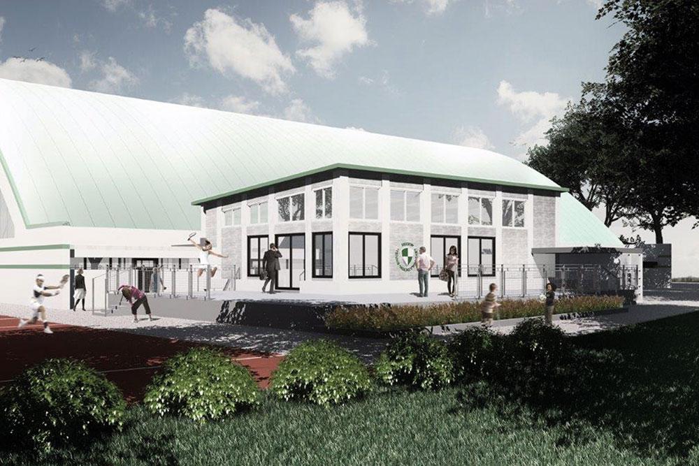 THK Rissen Visualisierung neues Clubhaus aussen Tennis Hockey Sport Verein West
