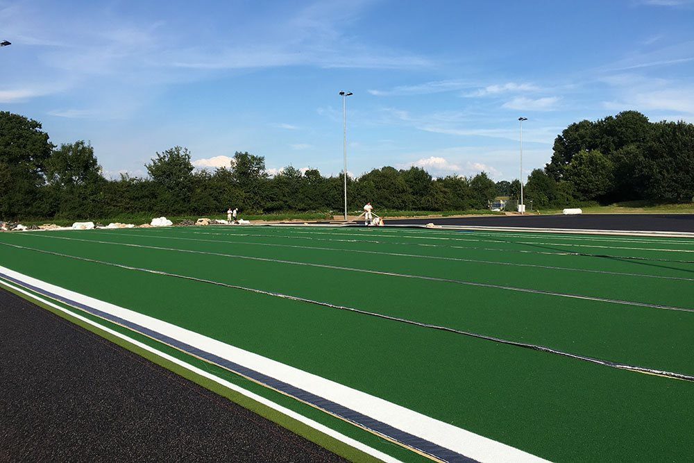 Bauphase THK Rissen Hockey Kunstrasen Sport Verein West